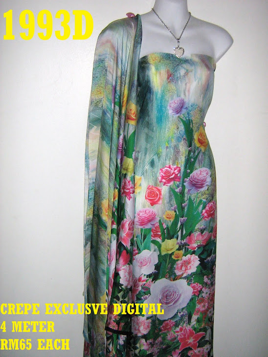 CP 1993D: CREPE EXCLUSIVE DIGITAL PRINTED, 4 METER