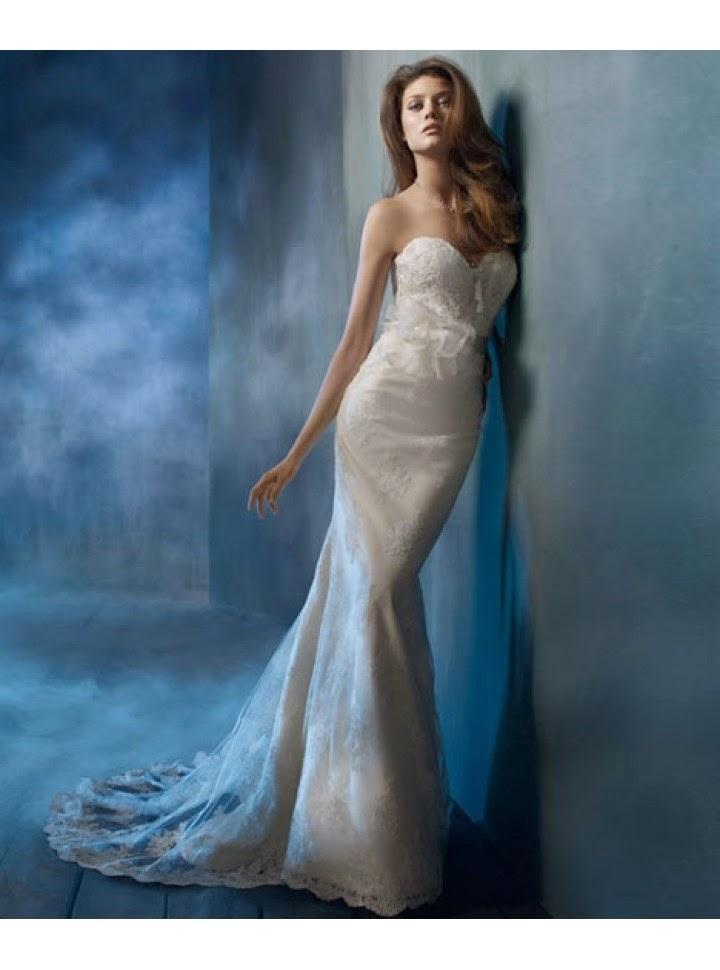 queusar: vestido de novia corte vaina o columna, escote corazon