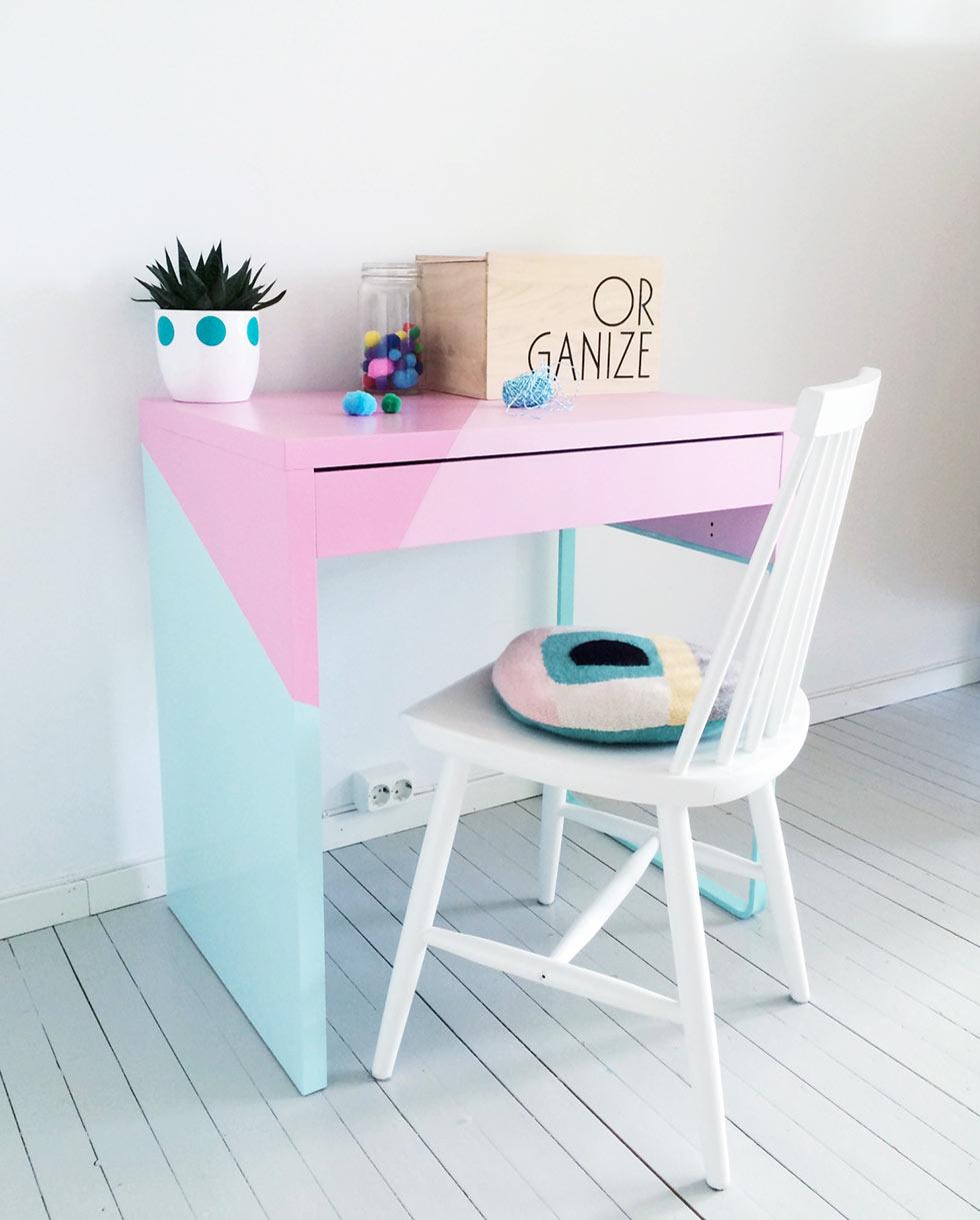 Naifandtastic decoraci n craft hecho a mano for Ikea mesas de estudio