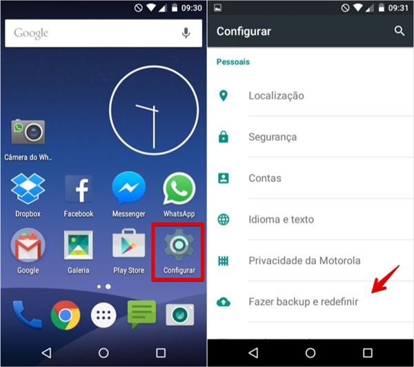 Fazendo backup no Android