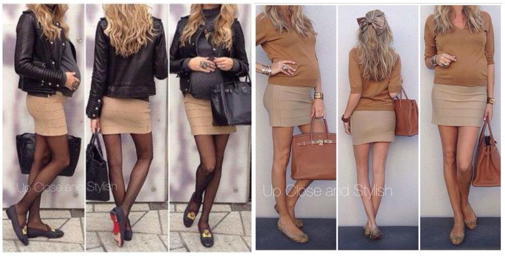 minifalda con sabrinas
