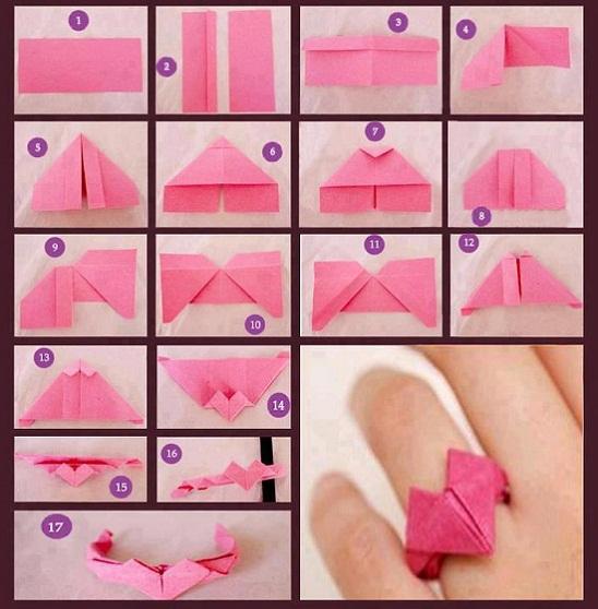 Cara Buat Origami Cincin Kertas