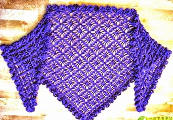 3 patrones crochet de Chal | Crochet y Dos agujas - Patrones de tejido