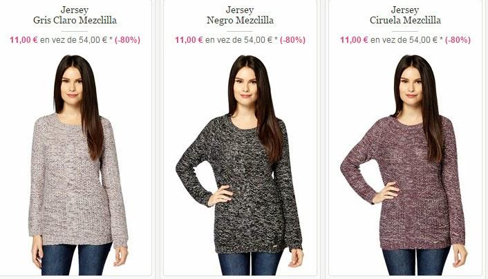 Tres modelos de jerséis de Cómplices para mujer por 11 euros cada uno