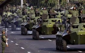 CuBa viện trợ hơn 40.000 binh sĩ, 2000 Xe tăng thiết giáp, 100 Tàu chiến các loại và 50 máy bay chiến đấu cao cấp cho Việt Nam tại biển đông