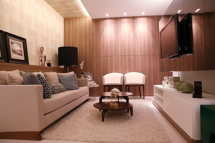 Tamanho Ideal De Tv Para Sala Pequena ~ Utilizar espelho na parede é um grande truque de decoração para