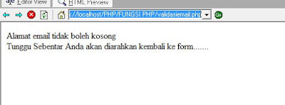 email kosong