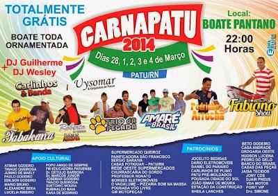 PROGRAMAÇÃO DO CARNAPATU 2014