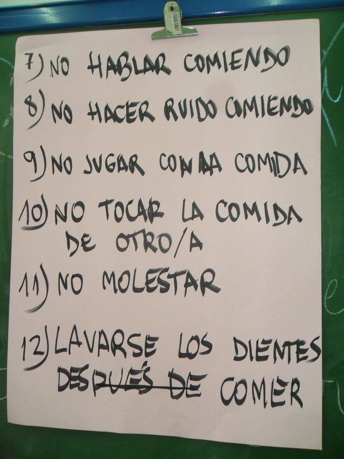 NORMAS PARA EL COMEDOR 2