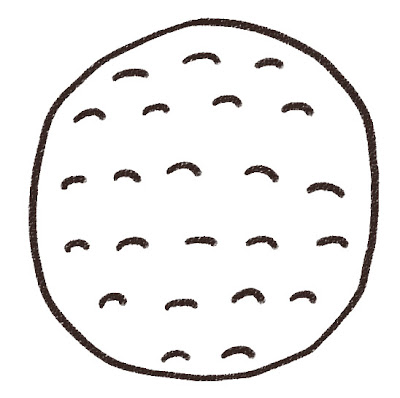 ゴルフボールのイラスト(スポーツ器具 モノクロ線画
