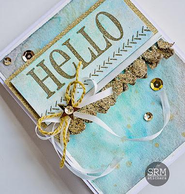 SRM Stickers Blog - BIG Hello by Michele - #card #hello #BIGhello #stamp #twine