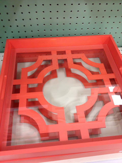 coral tangerine tray at Target