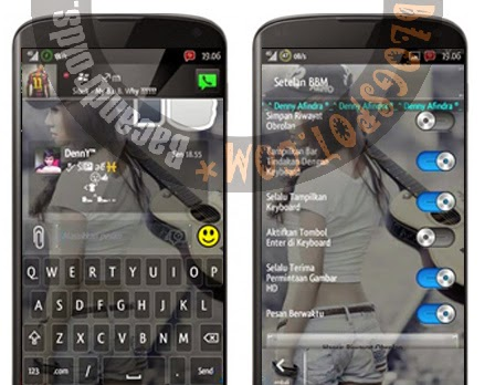 Download BBM Mod Versi 2.6.0.30 New Transparan EnterKey/SendKey