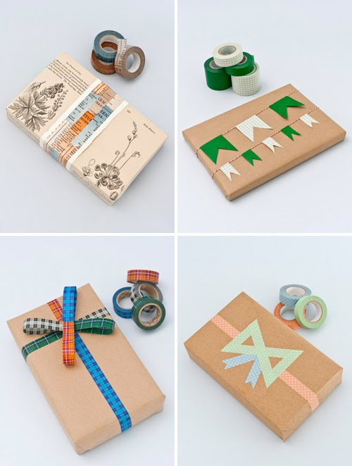 tea for joy washi tape wrapping ideas