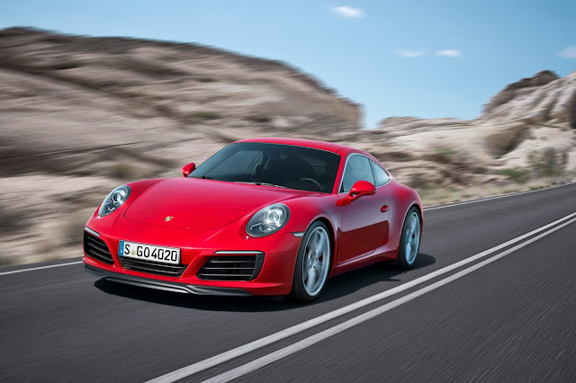 2017 Porsche 911 Carrera S red front
