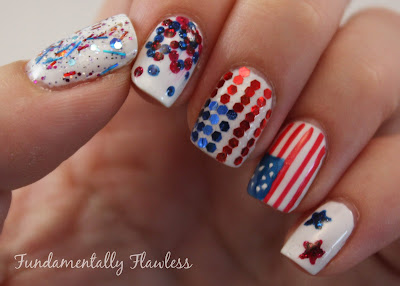 Models Own July 4th American Nail Art