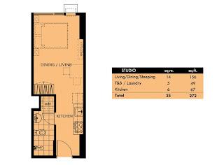 Celadon Park Manila Studio Unit Plan
