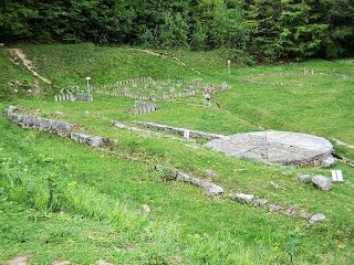 Citadel Sarmizegetusa Regia- Andesite quadrilateral Sanctuary and Solar disk