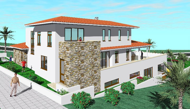 House Design Property External Home Design Interior: modern double storey house plans