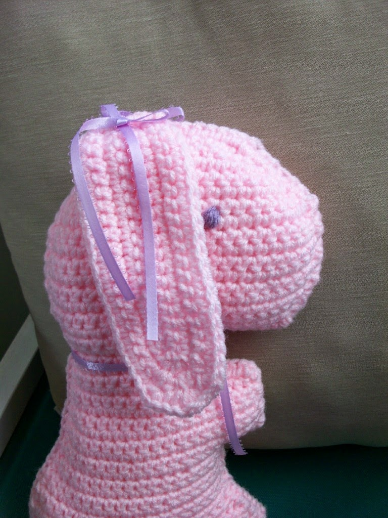 Crocheted Bunny Pillow