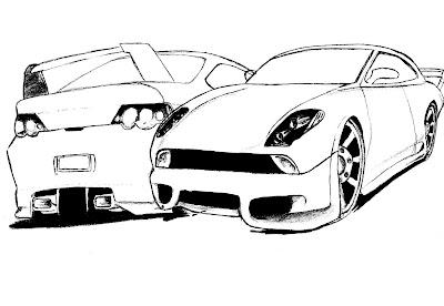 colorir desenhos de carros