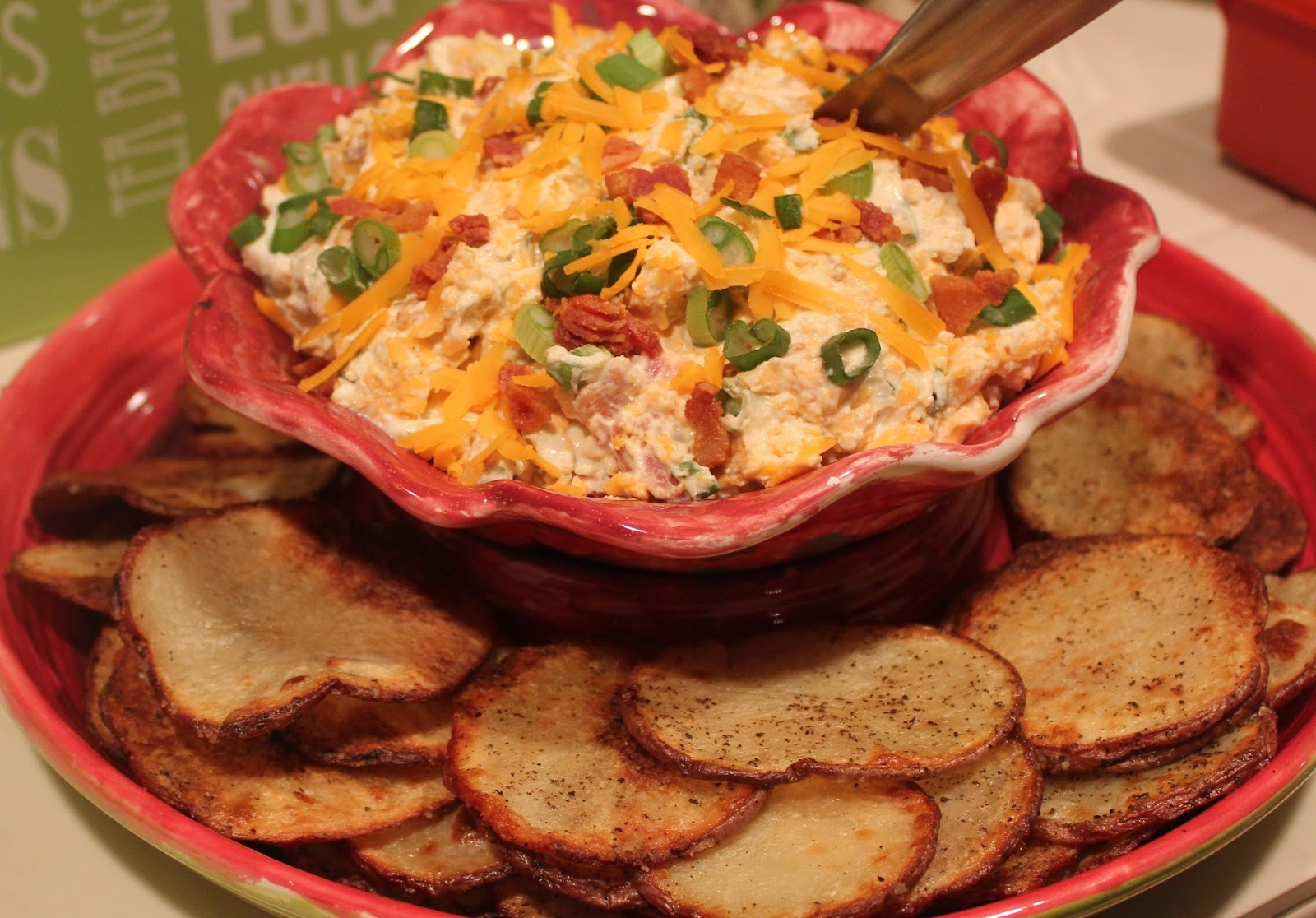 Sisters Luv 2 Cook: Loaded Baked Potato Dip with Homemade Chips