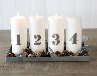 DIY adventné sviečky