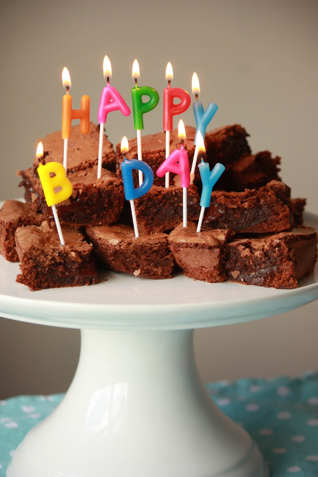 With Milk Flour Birthday Brownies