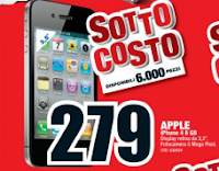 iPhone 4 8GB - Volantino offerte sottocosto Mediaworld