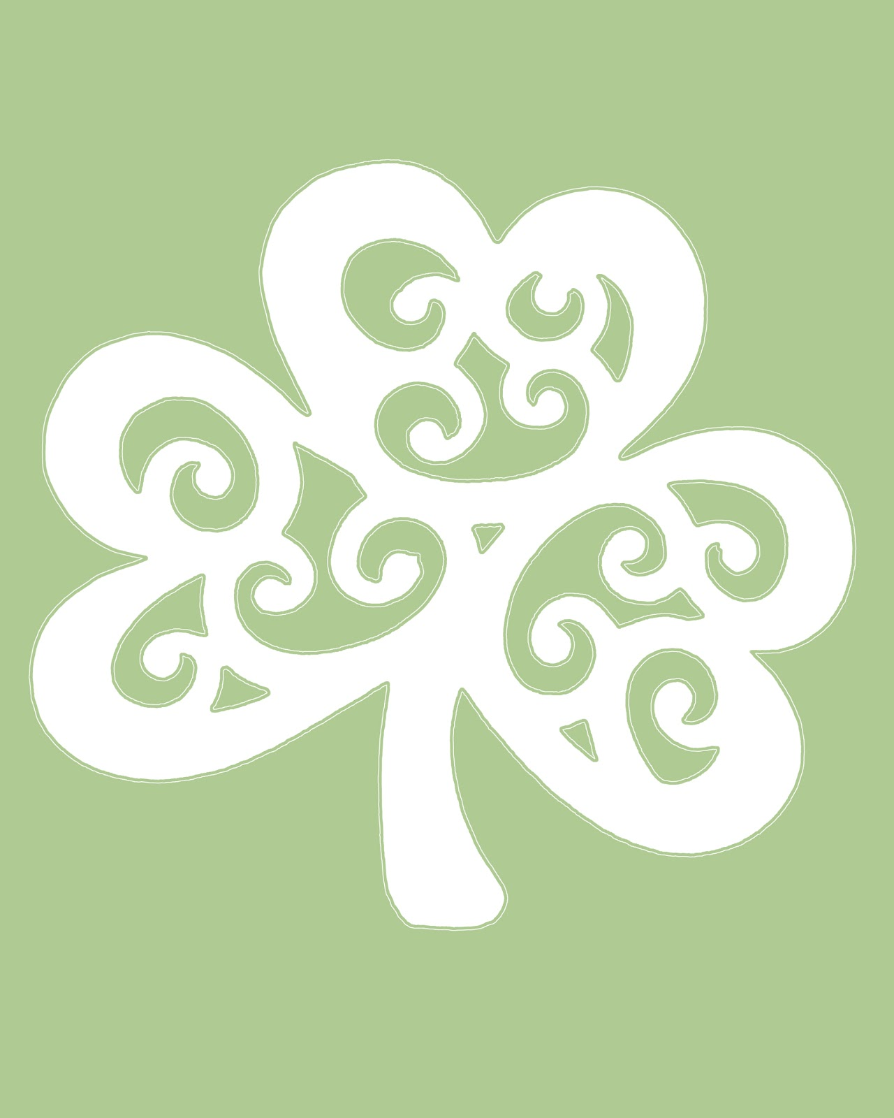 It's just an image of Nerdy St Patrick's Day Clover Printable
