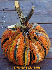 Large Rug Hooked Pumpkin Pattern (Mailed)
