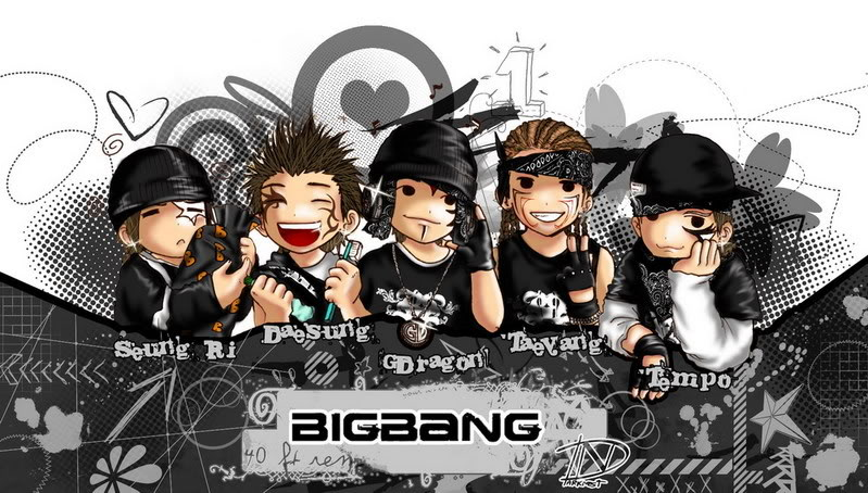 Foto Kartun Korea Big Bang | Photo Cartoon Artist
