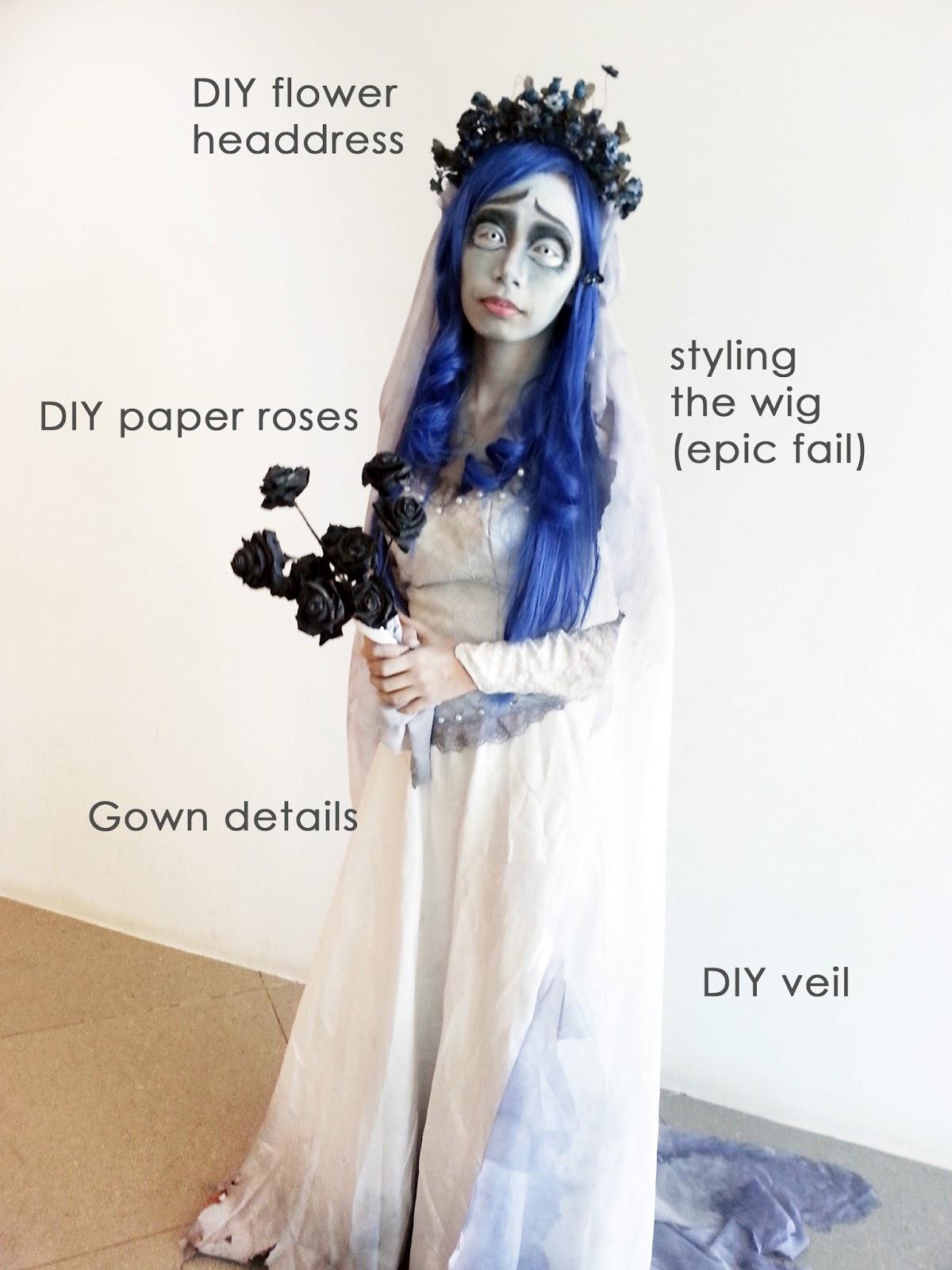 Corpse bride costume diy fashion 76