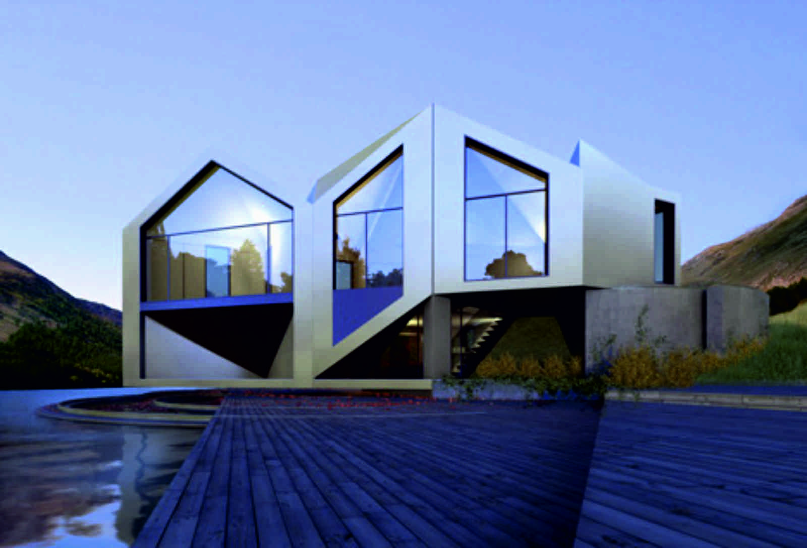 The d haus concept for Concept 8 architects