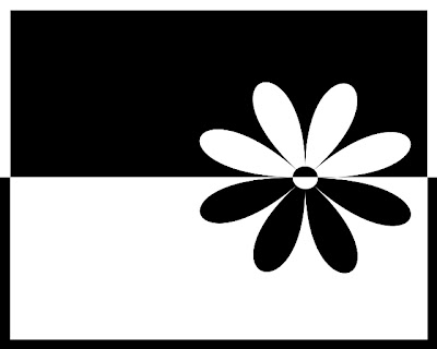The Black White Flower