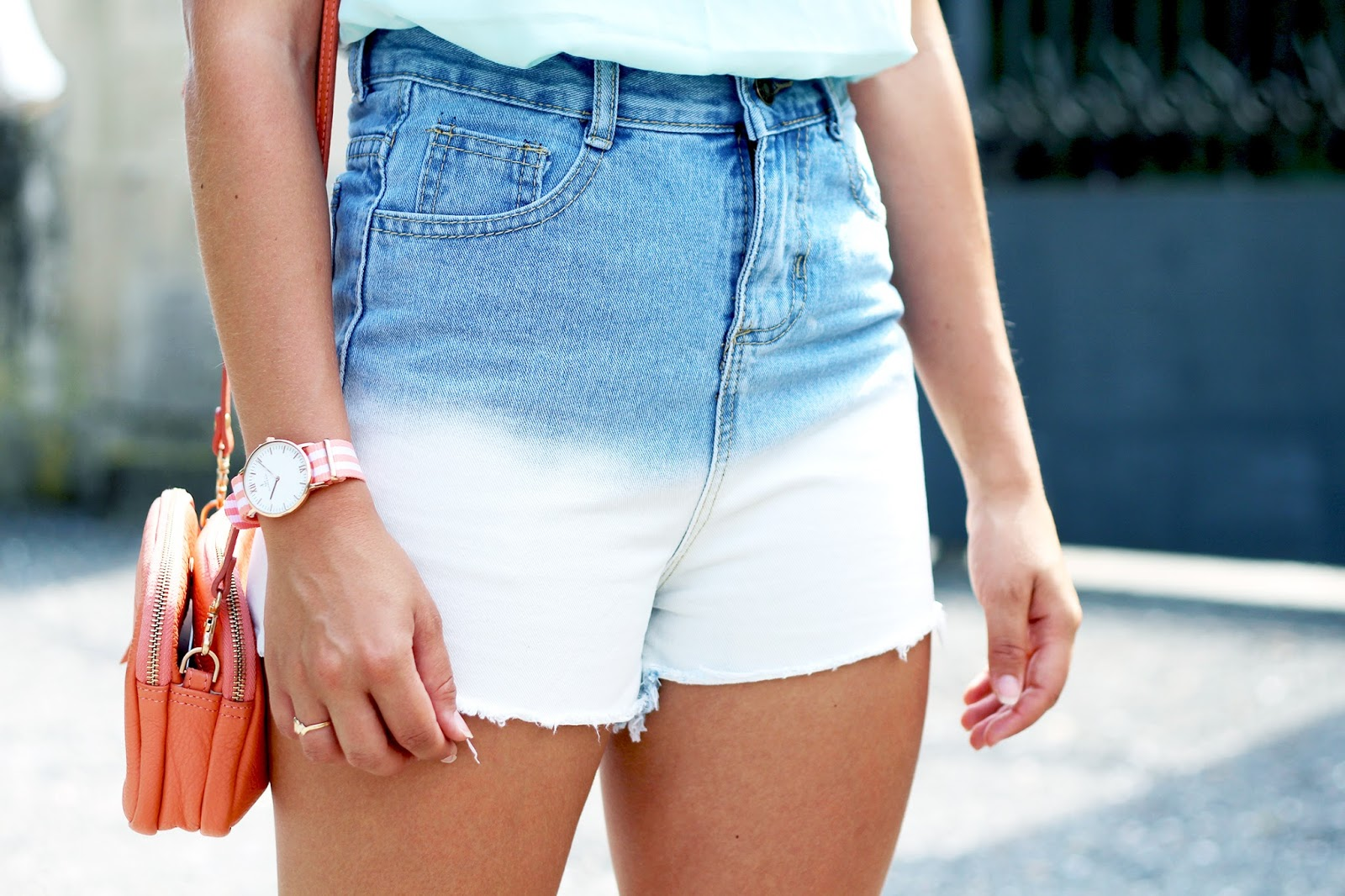 Short en jean tie dye