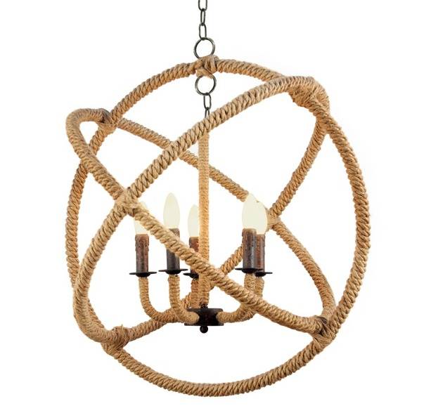 Stunning Wish I had a spot for this rope wrapped Saturn Chandelier at our house
