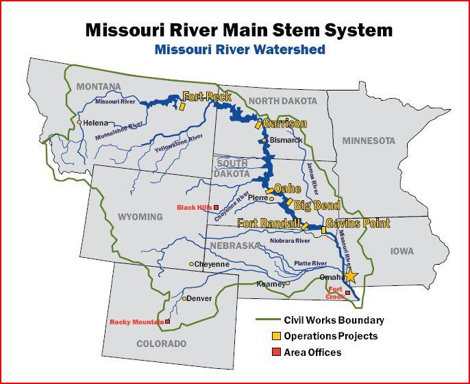Map Missouri River afputracom