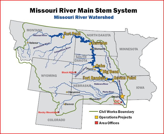 Gallery For Gt Missouri River Map With States