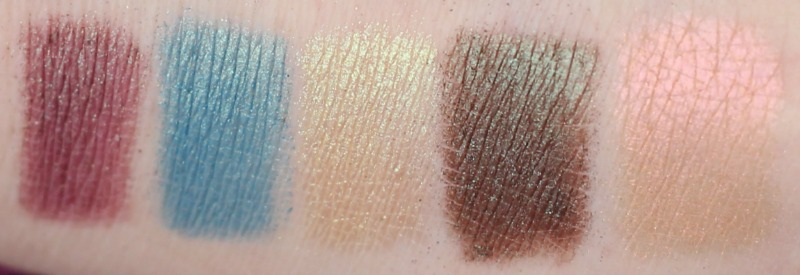 Neve Duochrome palette bottom row swatch