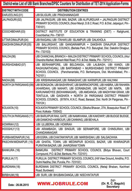 WBTET 2014 Notification, Application Form Distribution Centres Names and WB Primary TET 2015 Syllabus with Question Pattern