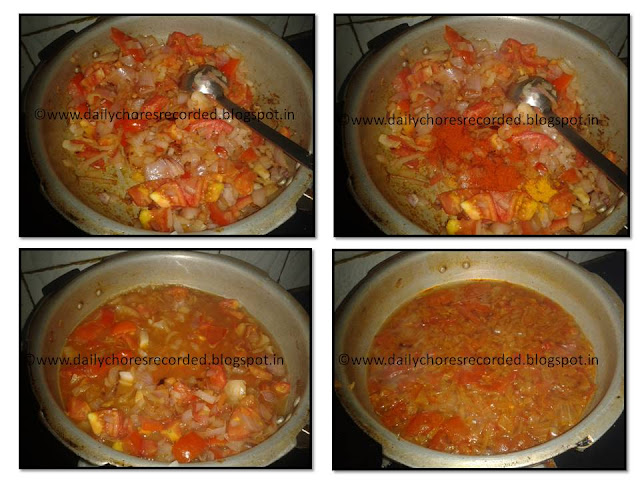 Tomato Curry for Dosa/Idly