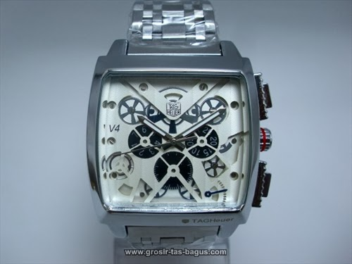 Jam Tangan KW Super Terbaru Murah dan Bagus Tag Heuer 340 V4 Monace White
