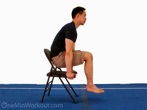 Tuck Sit Press - One Minute Workout