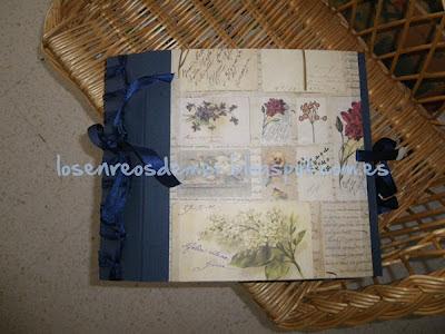 Álbum de hojas intercambiables realizado en cartonaje