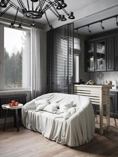kitchen and dinning room design by Denis Krasikov