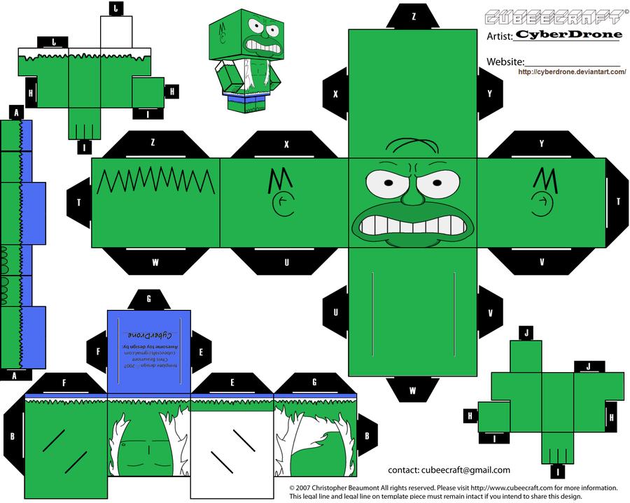 Papercraft Homer Hulk - Avengers Simpsons