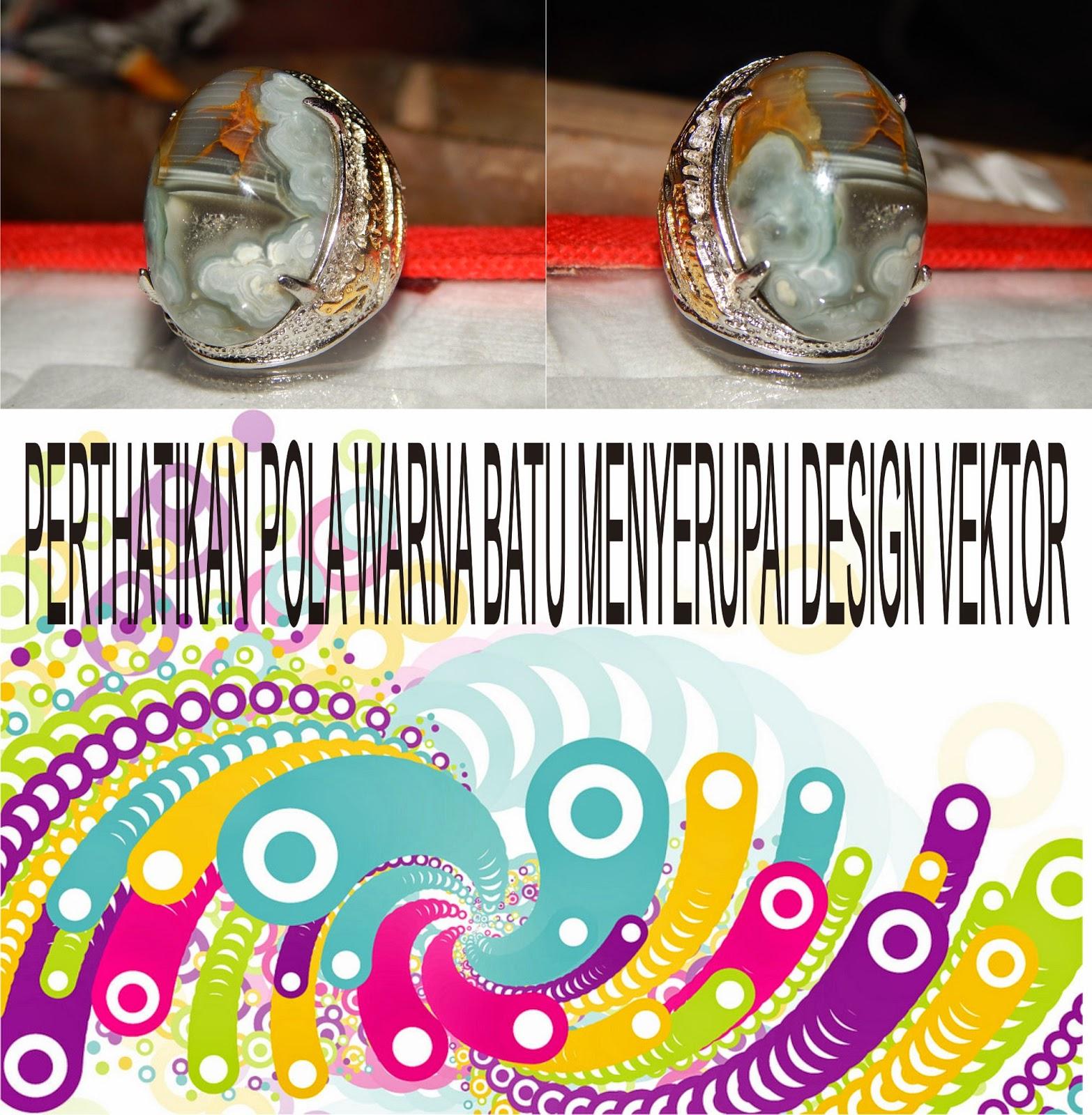 Limited Giok Panca Warna Motif Design Vektor