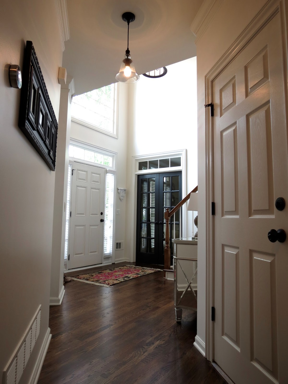 White Door Black Trim Tiffanyd New Foyer Progress And Black French Doors