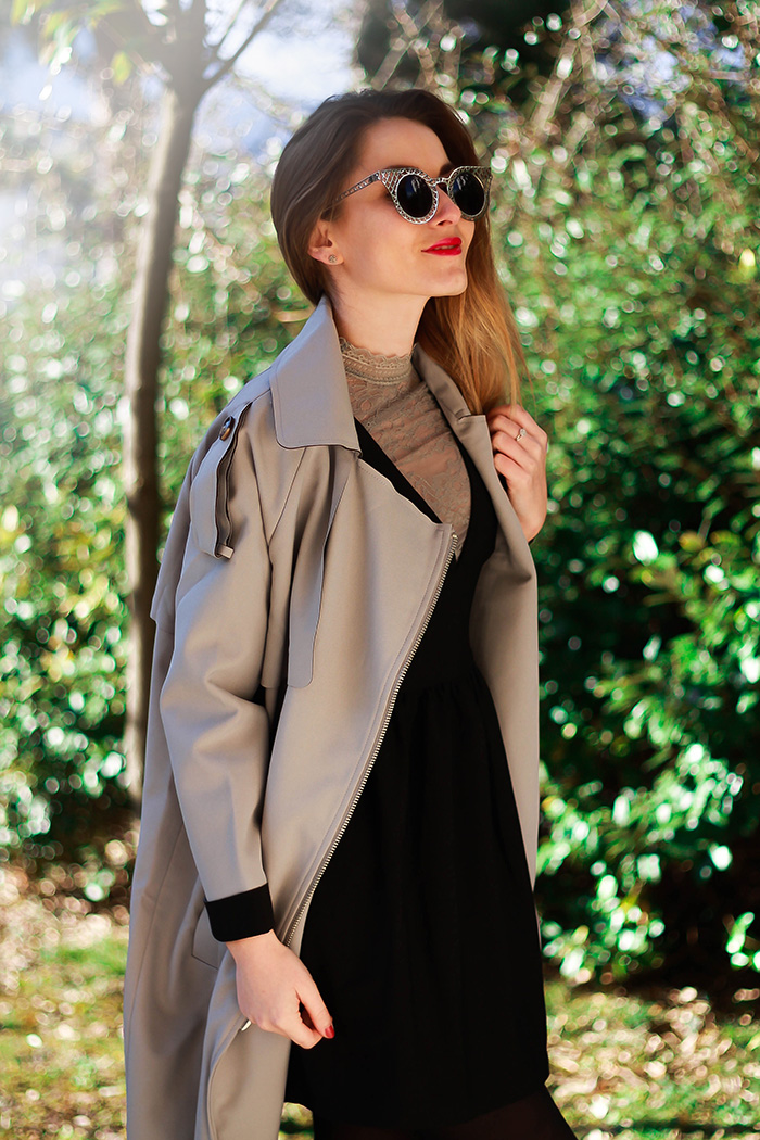 grey trench clothing